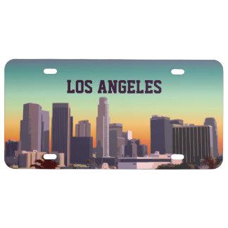 Im Stadtzentrum gelegenes Los Angeles - US Nummernschild