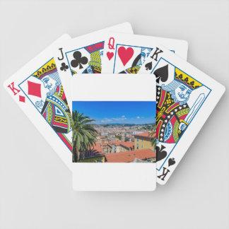 Im Stadtzentrum gelegenes Nizza, Frankreich Bicycle Spielkarten
