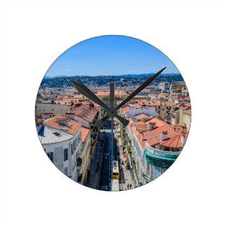 Im Stadtzentrum gelegenes Nizza, Frankreich Runde Wanduhr