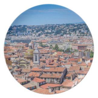 Im Stadtzentrum gelegenes Nizza, Frankreich Teller
