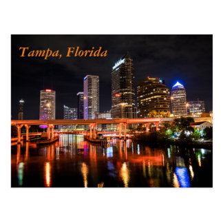 Im Stadtzentrum gelegenes Tampa, Florida bis zum Postkarte
