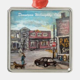 Im Stadtzentrum gelegenes Willoughby, Silbernes Ornament