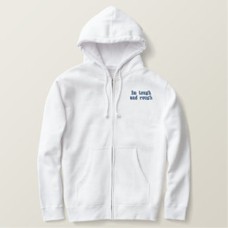 Im stark und rau bestickter hoodie
