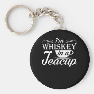 Im Whisky in einer Teacuplustigen Teacup-Liebe Schlüsselanhänger