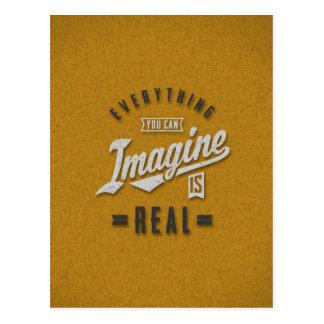 Imagine ist wirkliche inspirierend Zitate Postkarte