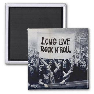 "Imam ""Long Live Rock N' Roll "" Quadratischer Magnet"