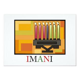 IMANI Kwanzaa Feiertags-Party Einladungen
