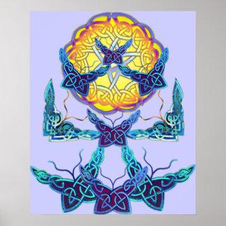 Imbolc Schmetterlinge, die Druck wecken Plakatdrucke