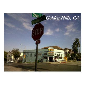 IMG00545-20110602-1659, goldene Hügel, CA Postkarte