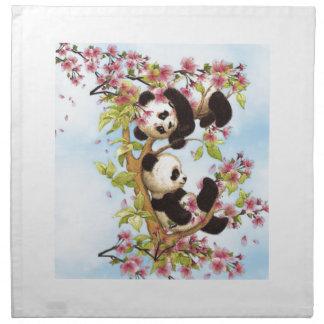 IMG_7386.PNG niedlich und bunter Panda entworfen Serviette