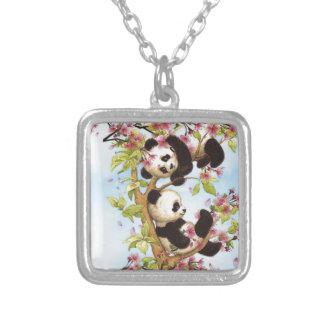 IMG_7386.PNG niedlich und bunter Panda entworfen Versilberte Kette