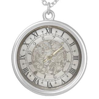 Imitat-Antiken-Uhr-Gesicht Halskette Mit Rundem Anhänger