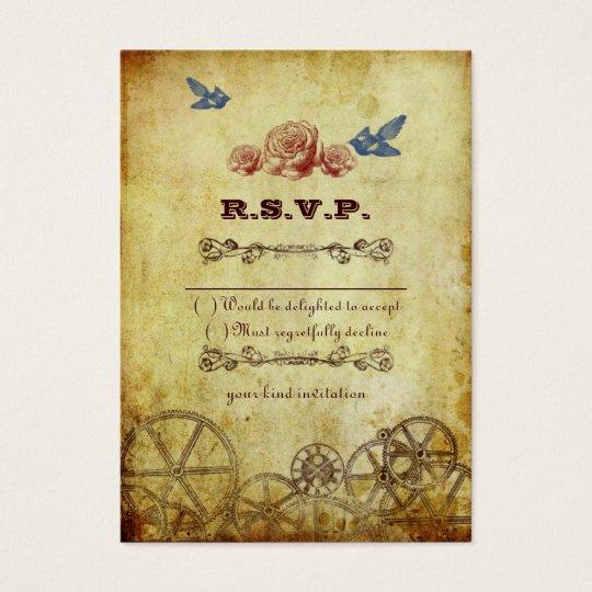 Imitat-antikes Goldviktorianische Steampunk Jumbo-Visitenkarten