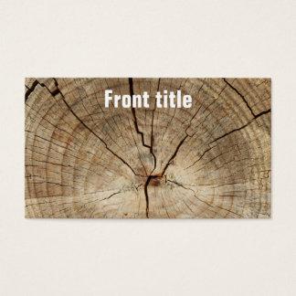 Imitat-Baum-Ring-Hintergrund Visitenkarte