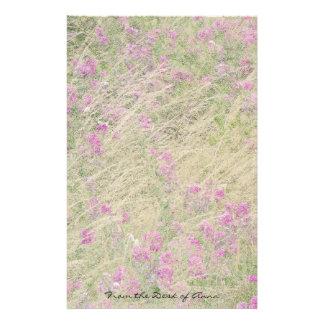 Imitat-Büttenpapier: Süße Erbsen-Blumen mit Blumen Briefpapier