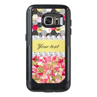 Imitat-Diamant-Folien-Glitter-Patchwork-Dreiecke OtterBox Samsung Galaxy S7 Hülle
