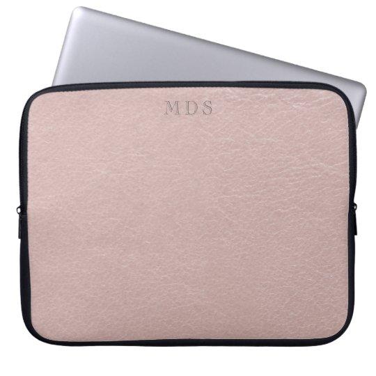Imitat errötet rosa lederne Blick-Laptop-Hülse Laptop Sleeve