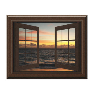 Imitat-Fenster-Ansicht-entspannender Leinwanddrucke