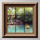 Imitat-Fenster-Plakat-friedlicher Wasser-GartenZen Poster