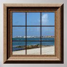 Imitat-Fenster-Plakat-Strand-Szenen-entspannende Poster