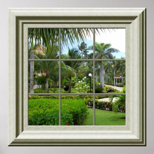 Imitat Fenster Plakatzen Tropische Landschaft Poster Zazzle