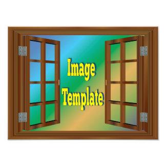Imitat-Fenster schaffen Ihre eigene Foto-Schablone Fotodruck