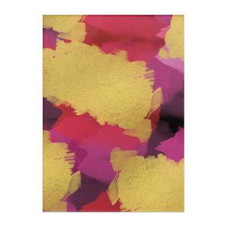 Imitat-Foliewatercolor-abstrakter Wand-Kunst-Druck Acryldruck