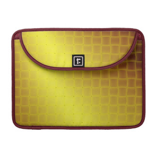 Imitat-gelbe Satin-Webart MacBook Pro Sleeve