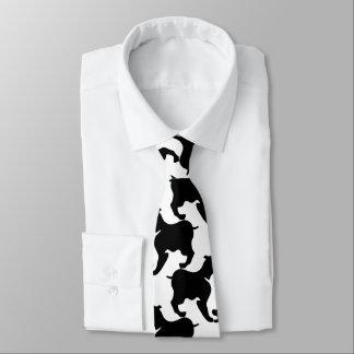 Imitat Geschecktde-poule mit L verfolgt Mode Krawatte