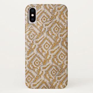 Imitat gesponnenes Gold metallisches Gatsby iPhone X Hülle