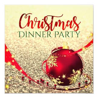 Imitat-Glitter Weihnachtsabendessen-Party laden Karte