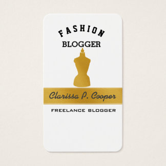 Imitat-Gold auf weißem RETRO Mannequin-ModeBlogger Visitenkarte