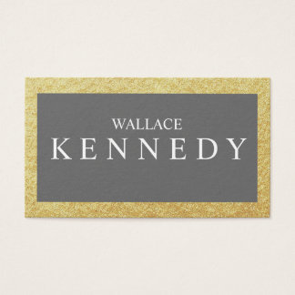Imitat-Gold FoilBusiness kardiert Schiefer-graues Visitenkarte