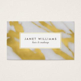 Imitat-Gold gemarmorte abstrakte Eleganz Visitenkarte