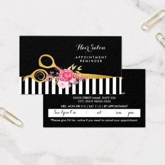 Imitat-Gold Scissors rosa Blumensalon-Verabredung Visitenkarte