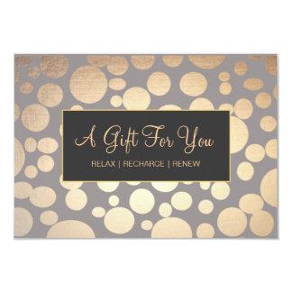 Imitat-Gold und Taupe-Wellness-Center-und Einladungskarte