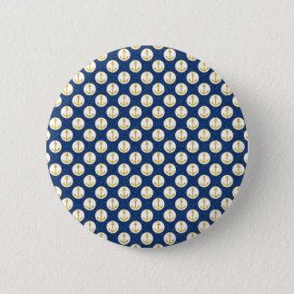 Imitat-goldene Anker weg Runder Button 5,7 Cm