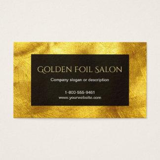 Imitat-goldener Folien-Blick mit Schwarzem Visitenkarte