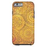 Imitat-goldenes Sonnemuster Tough iPhone 6 Hülle