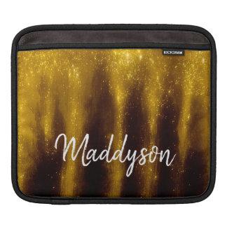 Imitat-Goldfarbe und -Glitzer auf Schwarzem Sleeve Für iPads