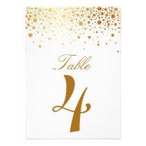 Imitat-Goldfolieconfetti-elegante Individuelle Einladungskarte