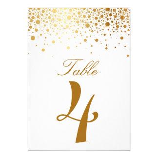 Imitat-Goldfolieconfetti-elegante Einladungskarte