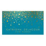 Imitat-Goldfolieconfetti-Geschäfts-Karte   Visitenkarten Vorlagen