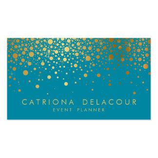 Imitat-Goldfolieconfetti-Geschäfts-Karte   Visitenkarten