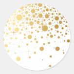 Imitat-GoldfolieConfetti punktiert Aufkleber I