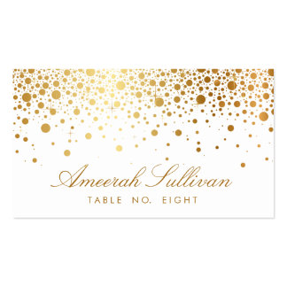 Imitat-GoldfolieConfetti punktiert elegante Visitenkartenvorlagen