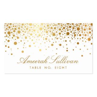 Imitat-GoldfolieConfetti punktiert elegante Visitenkarten