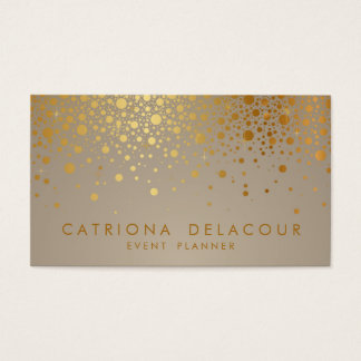 Imitat-GoldfolieConfetti punktiert moderne Visitenkarte