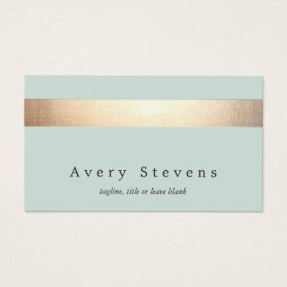 Imitat-Goldfoliegestreifter eleganter hellblauer Visitenkarte
