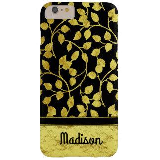 Imitat-Goldfolien-botanisches Blätter, Reben, auf Barely There iPhone 6 Plus Hülle
